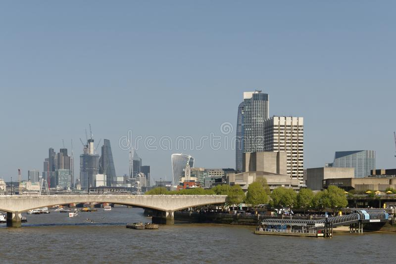 London skyline; southbank and the city royalty free stock photos