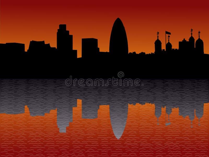 London Skyline At Sunset Royalty Free Stock Photo