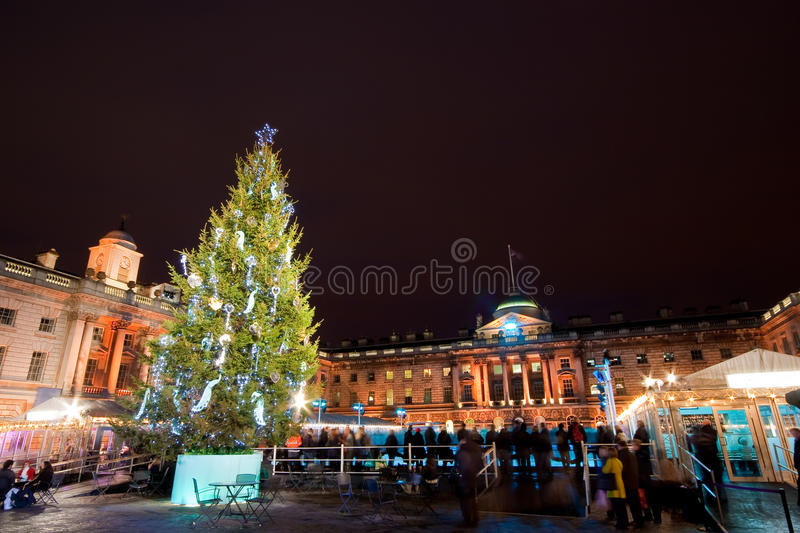 London somerset house ice rink royalty free stock images