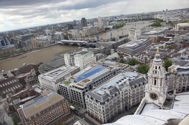 London from St Paul's Cathedral stock image