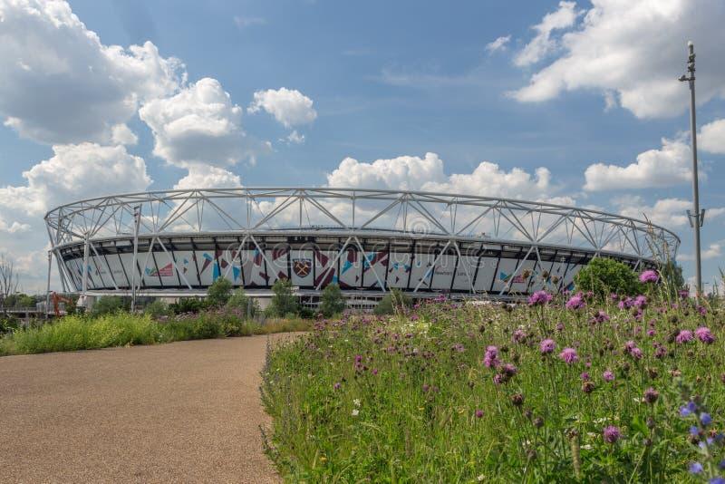 London Stadium , West Ham United`s Stadium in Queen Elizabeth Olympic Park, royalty free stock images