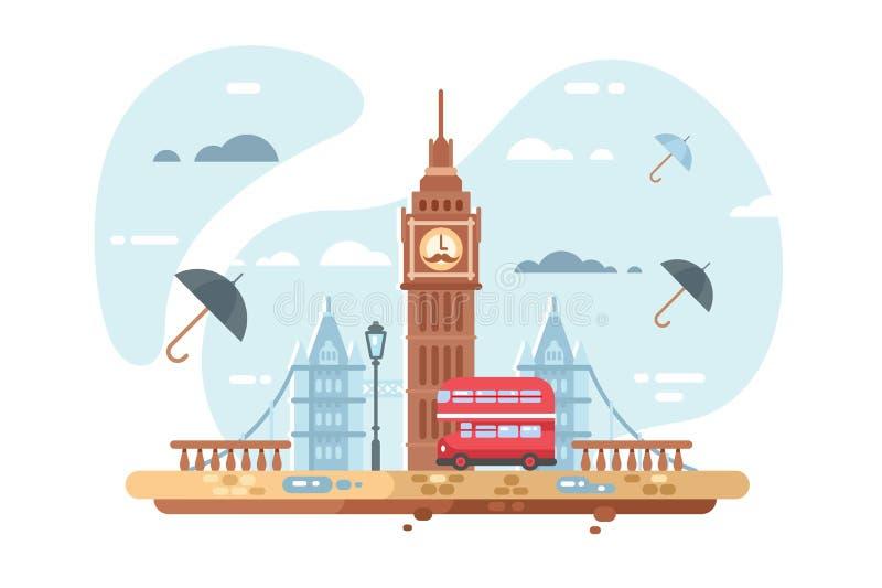 London-Stadt Skyline vektor abbildung