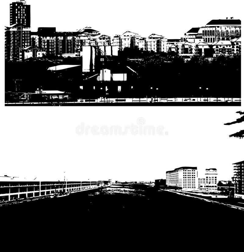 London-Stadt-Skyline stock abbildung