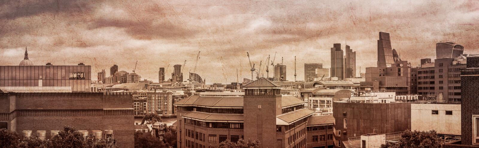 London-Stadtskylinepanorama stockbild