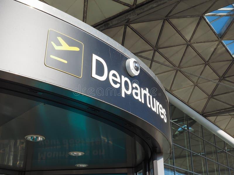 London Stansted flygplats arkivfoto