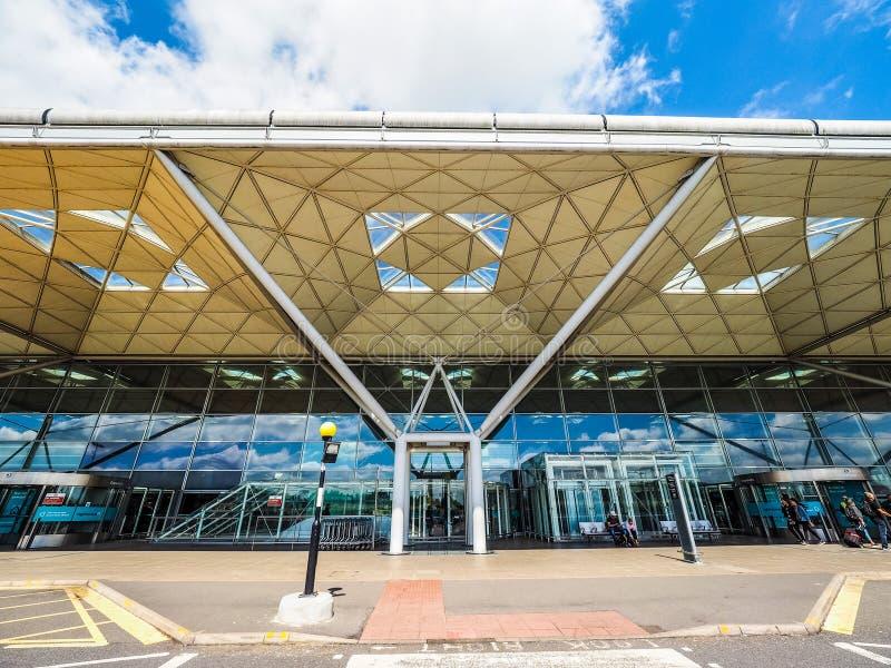 London Stansted flygplats, hdr arkivbilder
