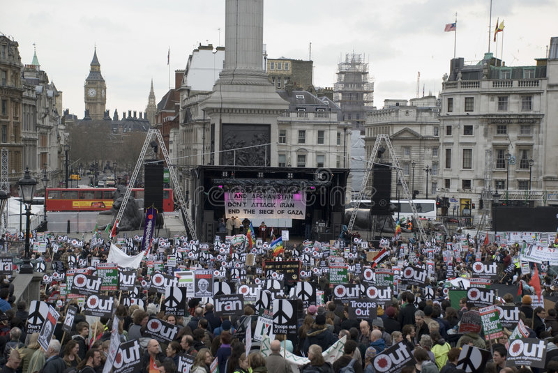 Download London Stop The War Protest Editorial Stock Photo - Image: 4600238