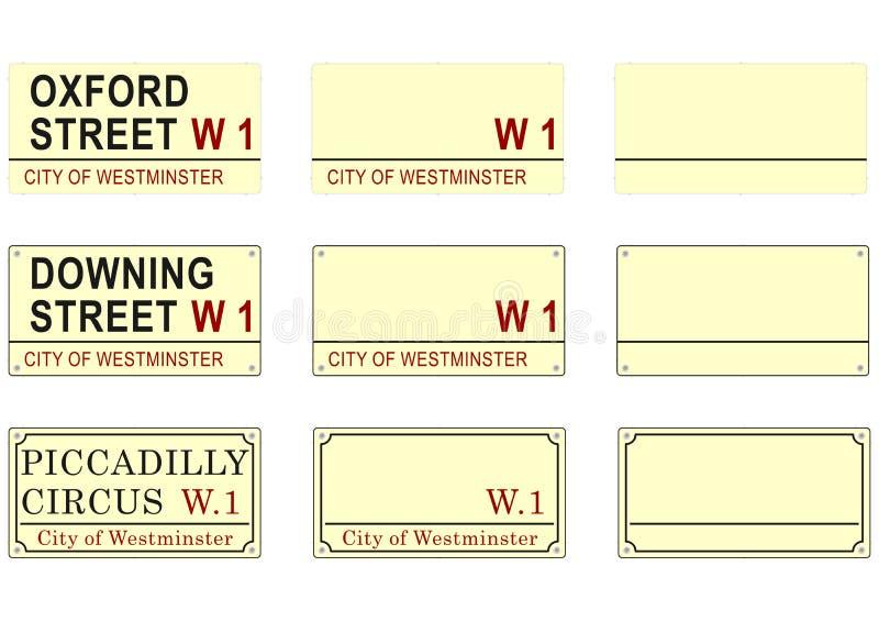 London-Straßenschild lizenzfreie abbildung
