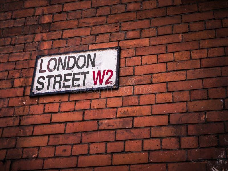 London-Straßenschild stockfotografie