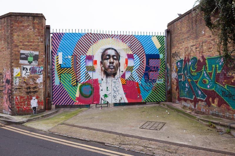 London Street Art Editorial Stock Photo