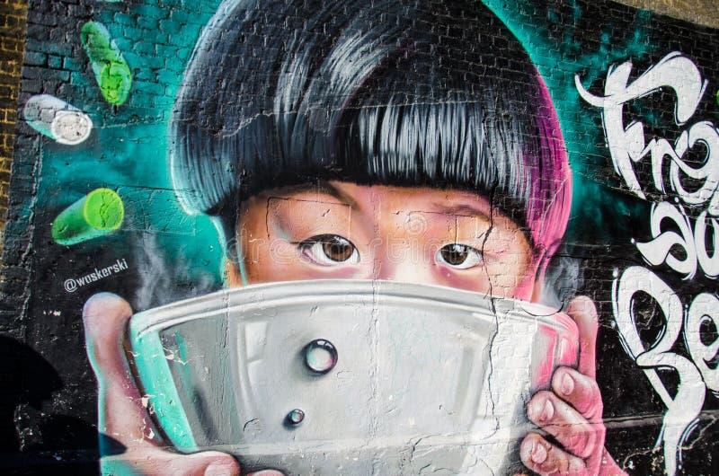 London Street Art fynd arkivfoto