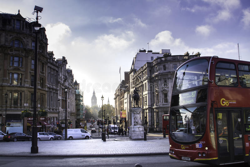 London streets in autumn stock photography