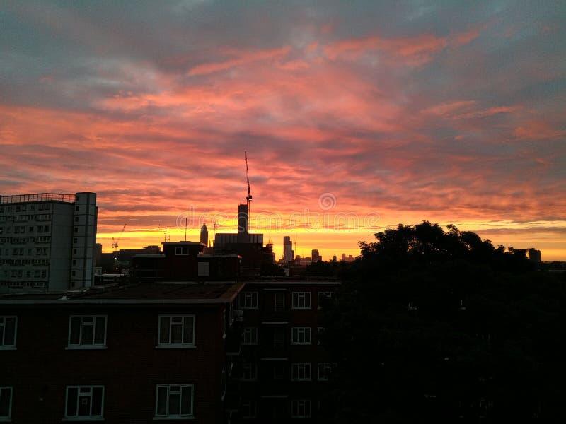 London sundown royalty free stock photo