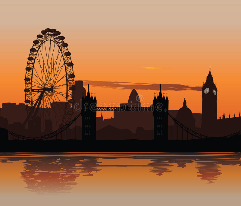 Download London at sunset editorial image. Image of river, night - 10933600