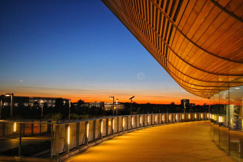 London sunsets stock images