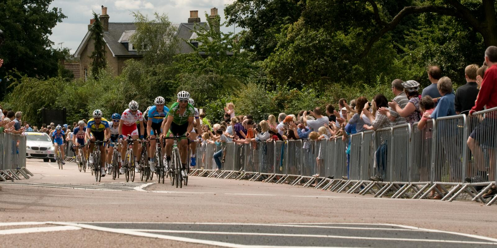London Surrey Classic Cycle Race royalty free stock photo