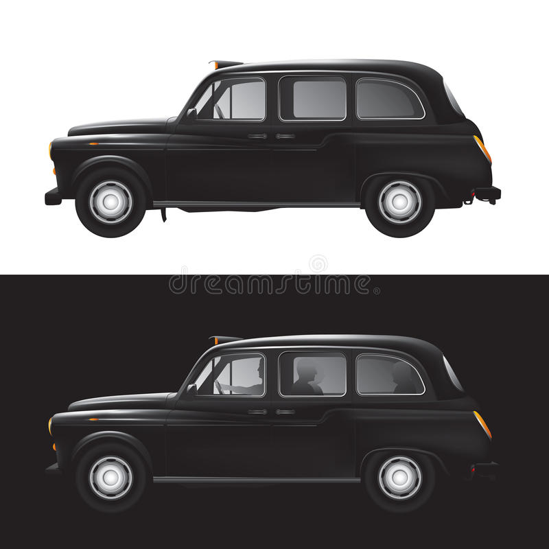 London symbol - black cab - isolated vector illustration