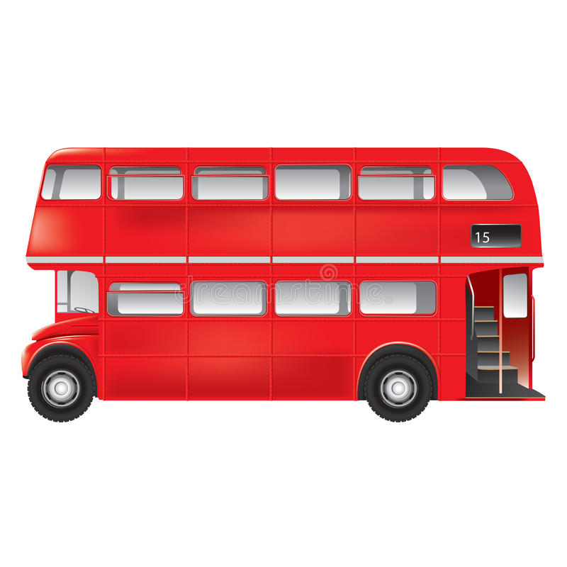 London symbol - red bus - isolated stock illustration