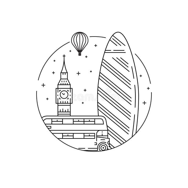 london symbole ilustracji