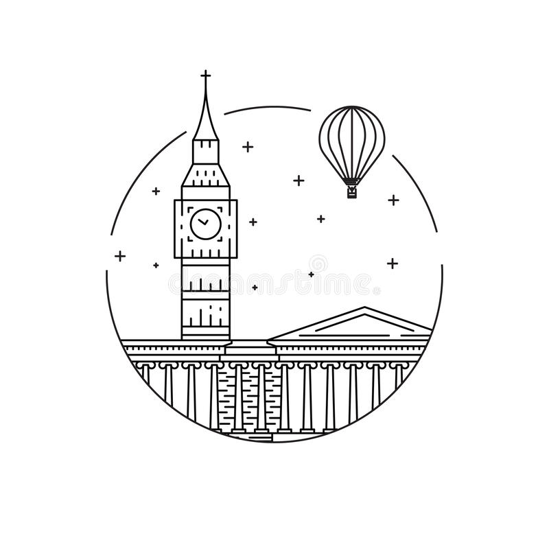 london symbole royalty ilustracja
