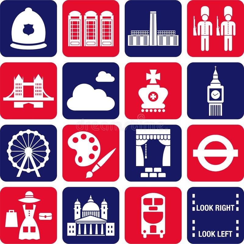 London symboler vektor illustrationer