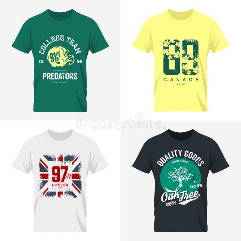 London-T-Shirt Abnutzungsspott oben lizenzfreie abbildung