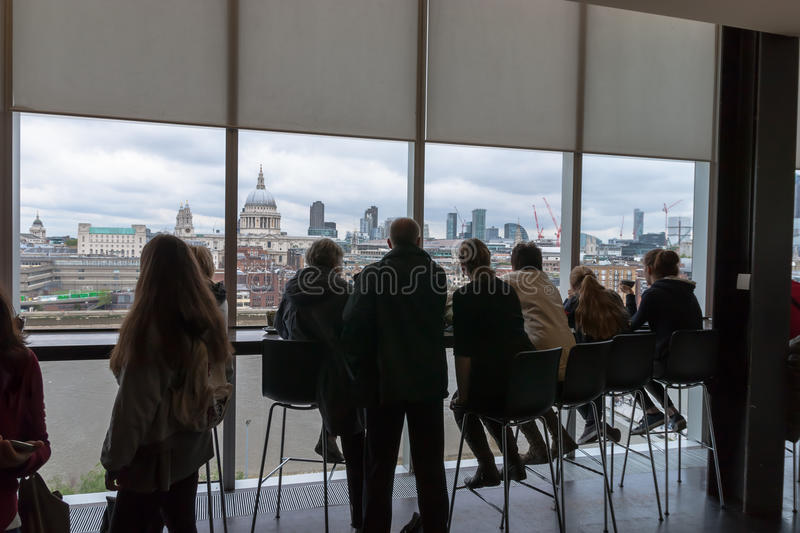 London from the Tate Modern stock photos