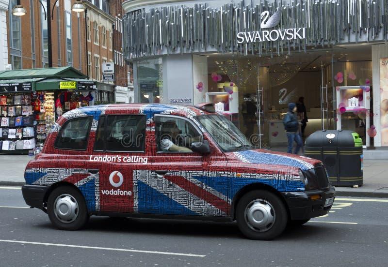 london taxar royaltyfri fotografi