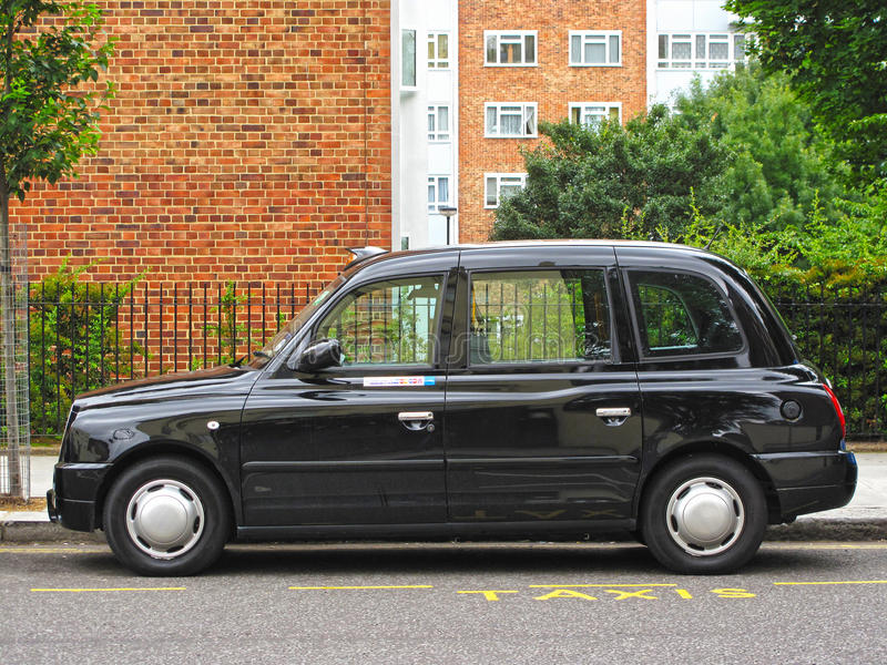 London Taxi Editorial Photography