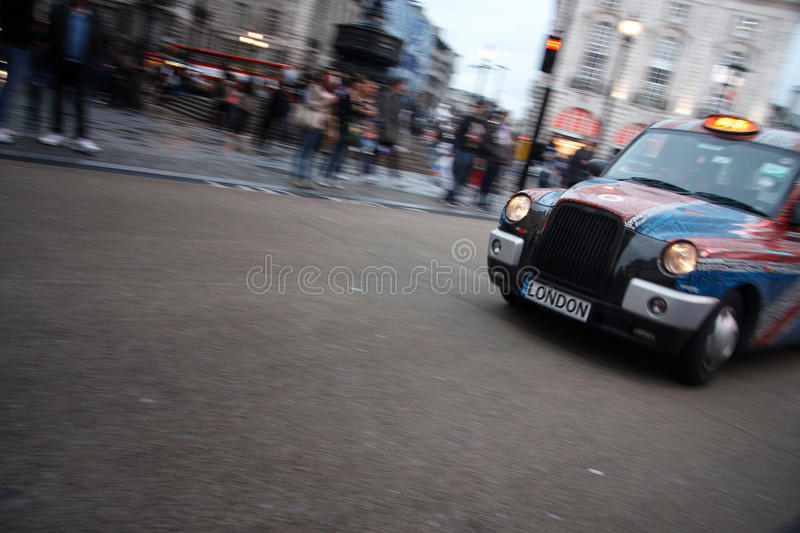 London taxi royalty free stock photography