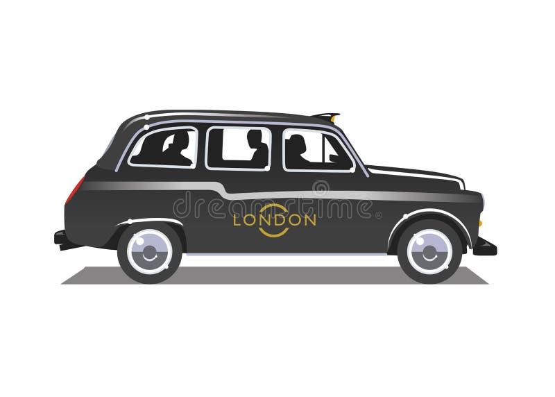 London taxi vektor illustrationer