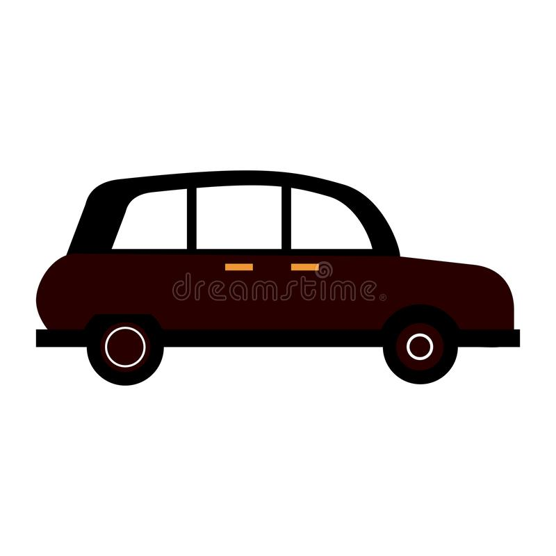London taxi cab. Isolated vector illustration graphic design royalty free illustration