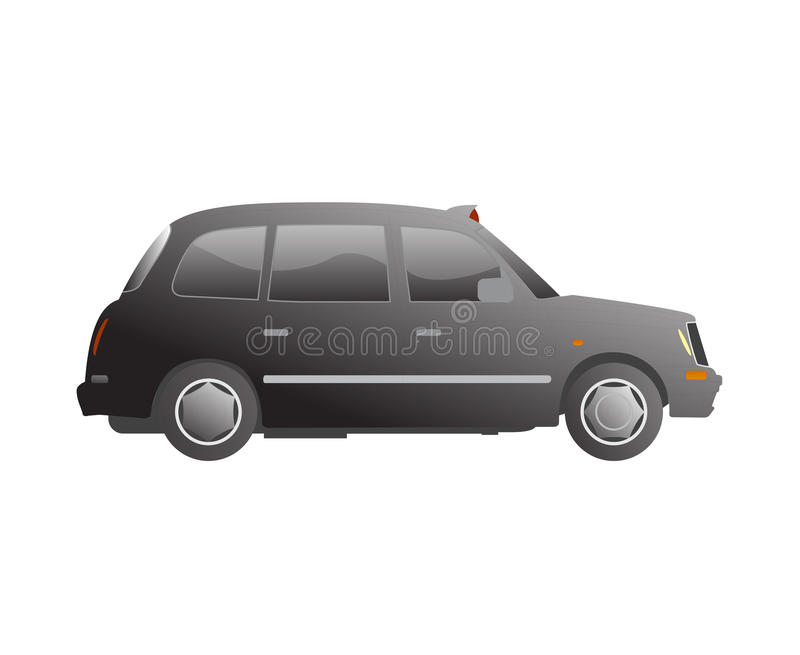 London taxi cab vector. Vector illustration of london taxi cab seen from the side stock illustration