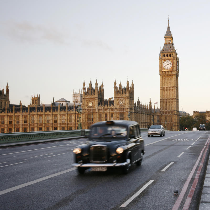 Download London Taxi On Westminster Bridge Editorial Photography - Image: 27690142