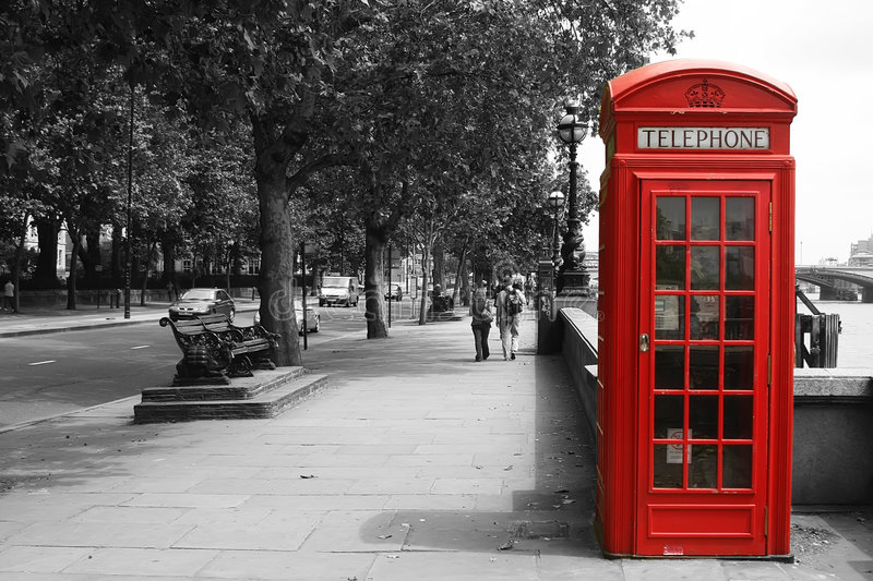 London Telephone Booth stock images