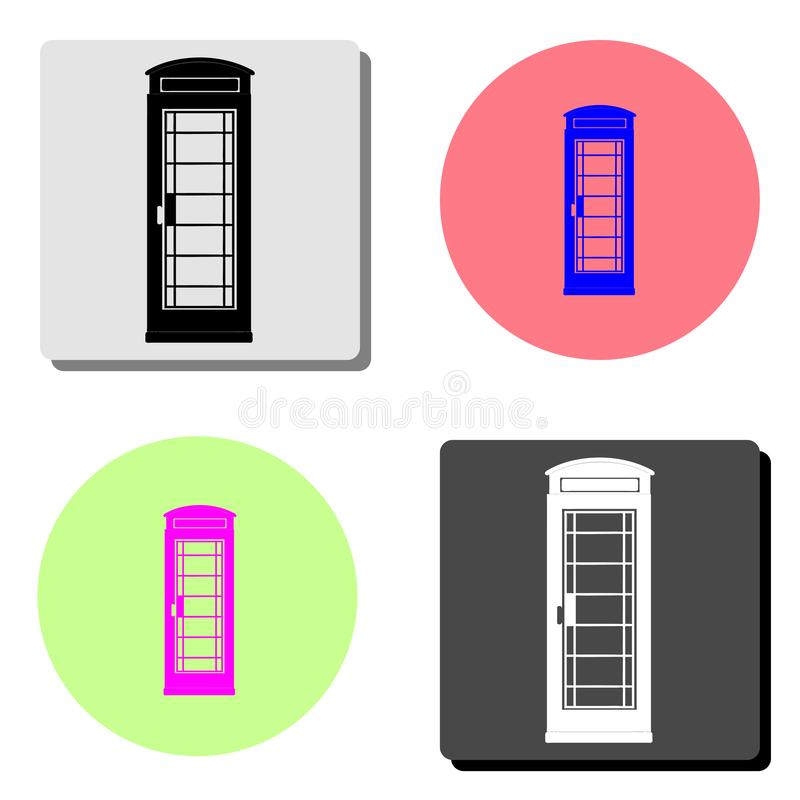 London telephone booth. flat vector icon vector illustration
