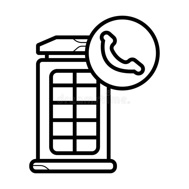 London telephone booth icon royalty free illustration