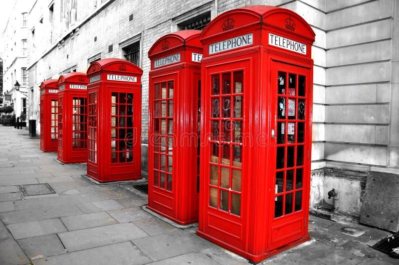 London Telephone Boxes stock photos
