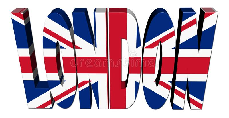 Download London Text With British Flag Stock Illustration - Image: 12297454