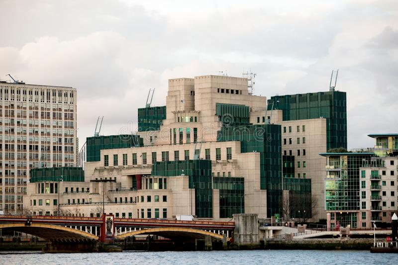 The Headquarters of the British Secret Intelligence Service Mi6. London, 18th January 2018:- The Headquarters of the British Secret Intelligence Service Mi6 royalty free stock image