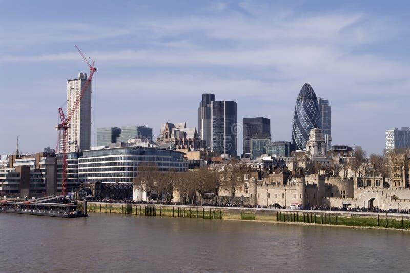 london thames royaltyfri bild