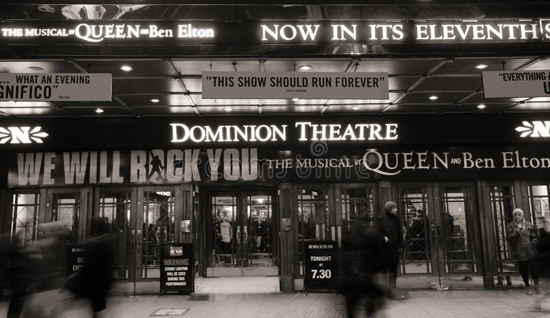 London Theatre, Dominion Theatre Editorial Photography