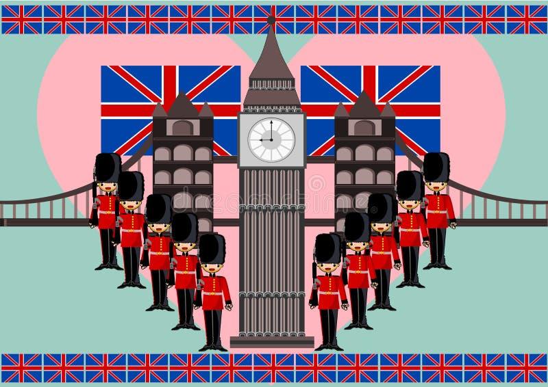 London. Theme concept illustration background royalty free illustration