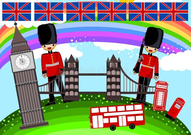 London. Theme concept illustration background vector illustration