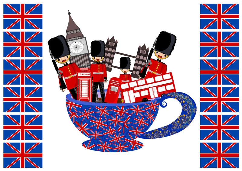London. Theme concept illustration background stock illustration