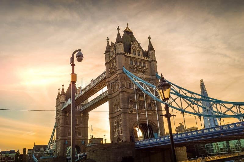 London Tower Bridge. In the sunset stock photo
