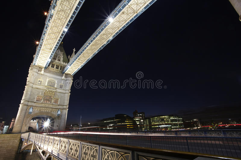 London Tower Bridge by night royalty free stock images