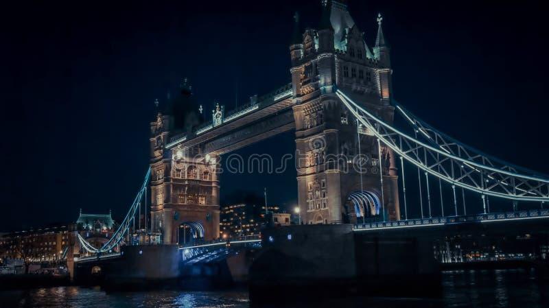 London Tower Bridge at night. London; UK - February 23; 2016: Tower Birgde at Night, London, UK. An iconic London landmark and one of Britain`s best loved royalty free stock photo