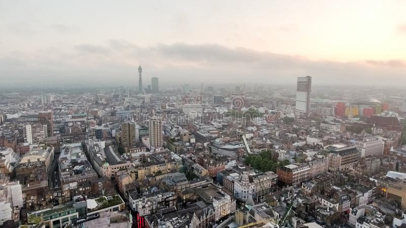 London Town Centre City Aerial View UK Stock Image