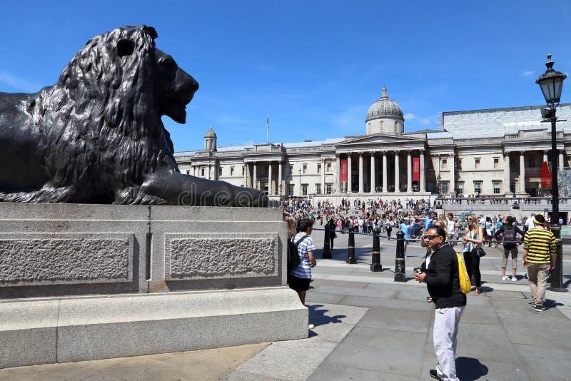 London Trafalgar fyrkant royaltyfri fotografi